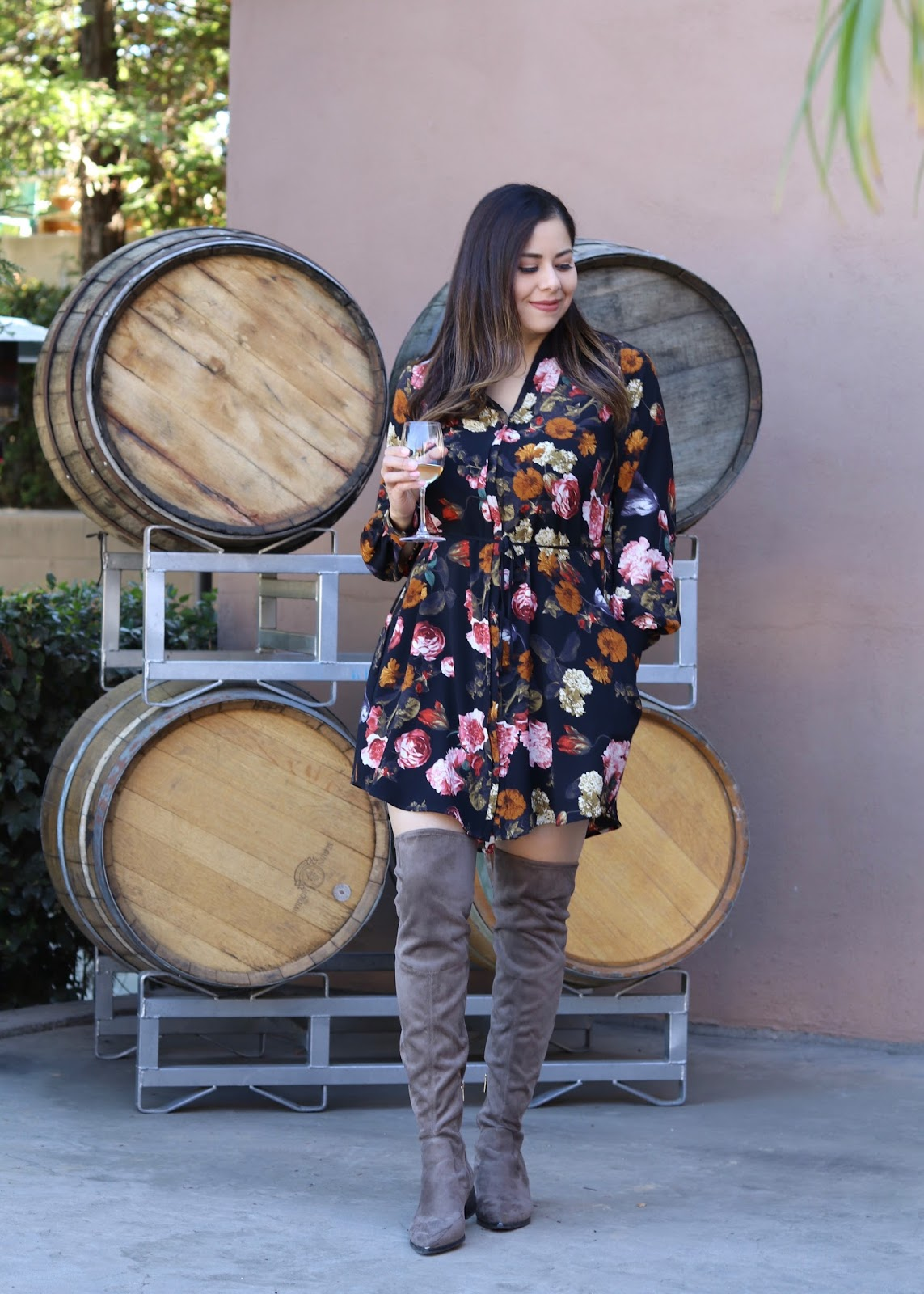 H&M floral dress, winter floral dress, H&M blogger