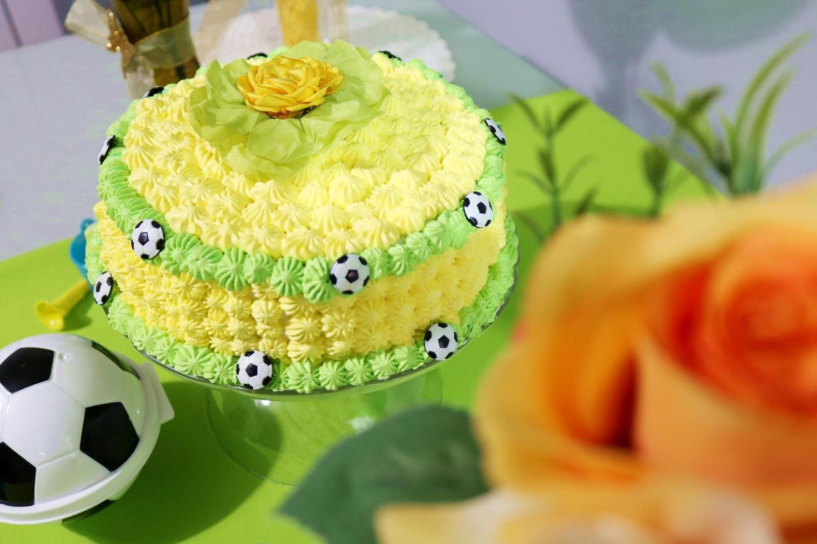 Mesversário Brasil - Copa do Mundo Futebol Decoração