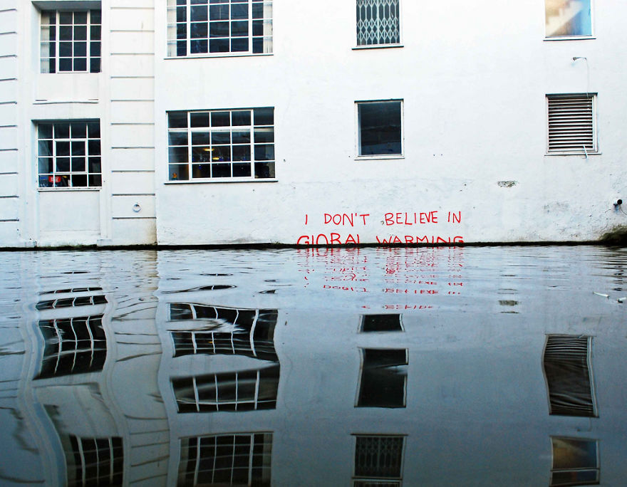 These 30+ Street Art Images Testify Uncomfortable Truths - I Don't Believe In Global Warming