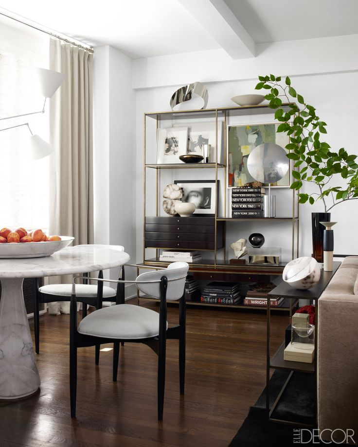 Dining Rooms From Elle Decor: The Well-Appointed Catwalk: 14 Glam Marble And Brass Interiors
