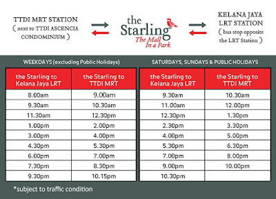 damansara-the-starling-mall-free-shuttle-bus-schedule