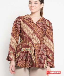 baju batik atasan wanita murah
