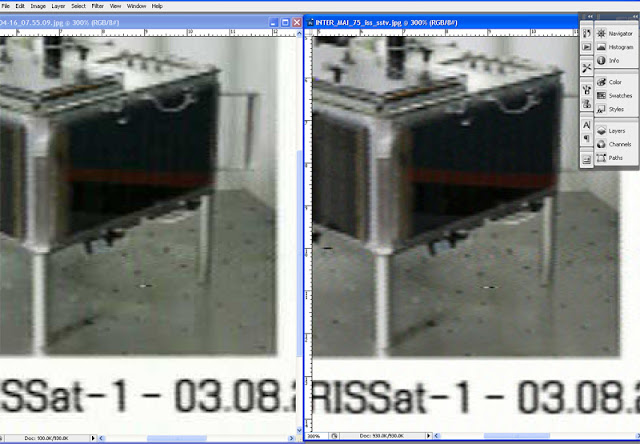 2X  ZOOM from Photoshop image editor , Left image from RXSSTV and Right from MMSTV