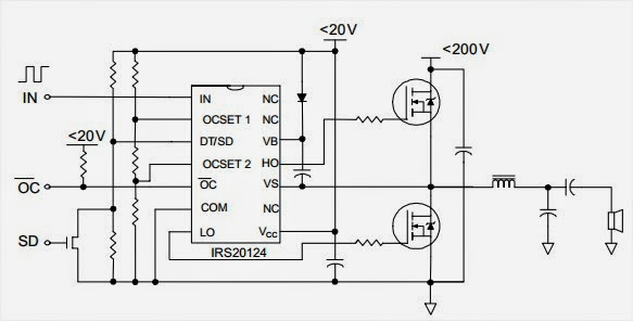 22w Stereo Amplifier Circuit And Explanation Electronic