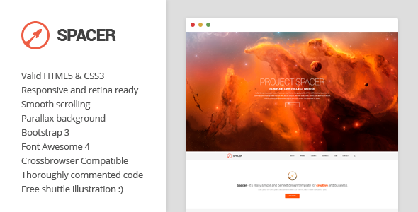 premium parallax one page template
