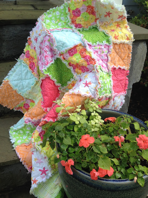 No Fuss Rag Quilt Tutorial