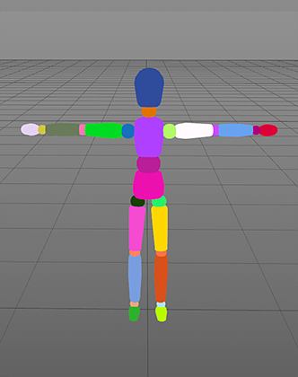 c4d random vertex color figure