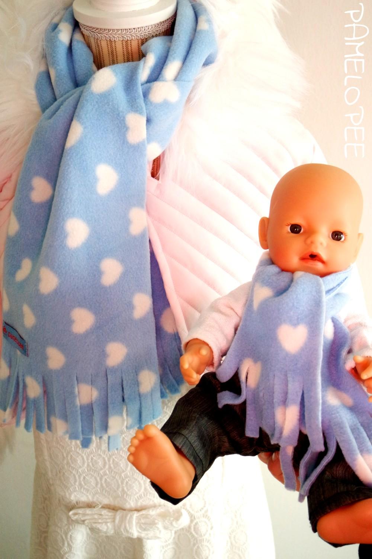 pamelopee: DIY: Puppenschal (im Set mit Kinderschal) ohne Nähen zum ...