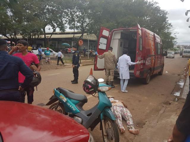 Grávida se envolve em acidente na região central da Capital