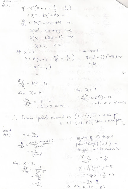 SPM A Maths Questions & Answers (Workings Shown): Chapter