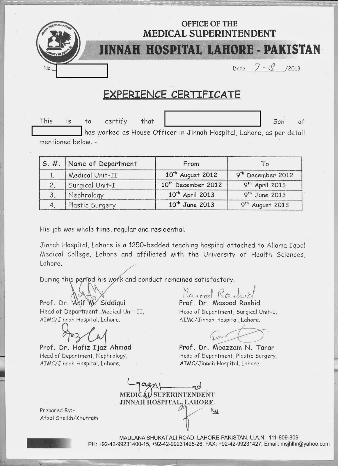 Relieving Letter Experience Certificate Format. Experience Certificate Templates Maternity Ward Performance HJ 2Bexperience  Wardhtml sample internal