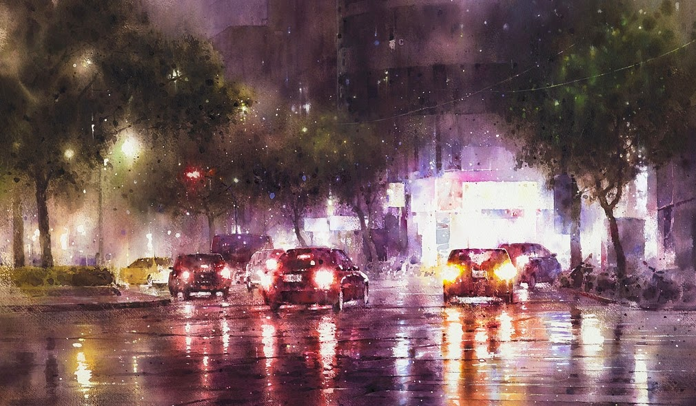 08-Lin Ching-Che 林經哲-Dreamlike-Watercolor-Paintings-in-the-City-www-designstack-co