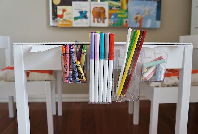freckles chick Quinns art table an Ikea LATT hack