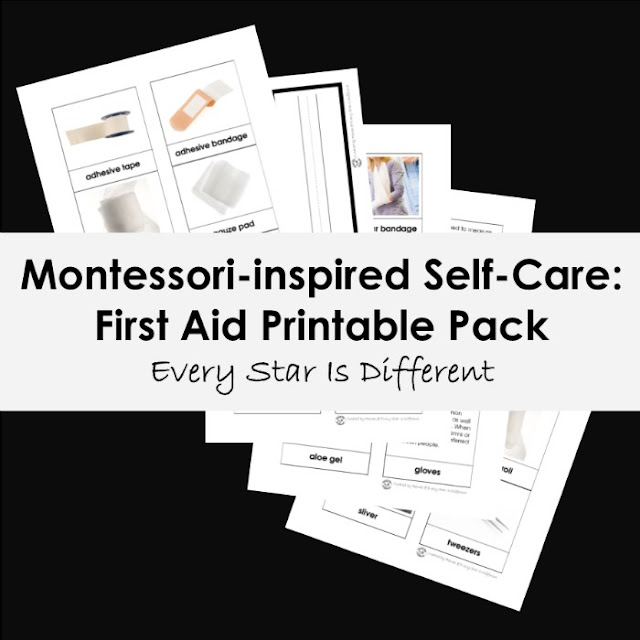 Montessori-inspired Self-Care: First Aid Printable Pack
