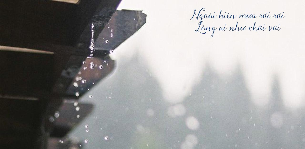 mưa rơi ngoài hiên