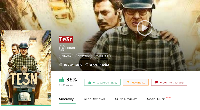 Te3n (2016) Full Hindi Movie in HD 720p avi mp4 3gp hq free
