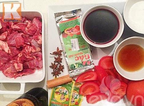 Hướng dẫn nấu món sốt vang thịt bò kiếu miền Bắc