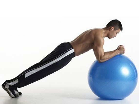 Tablón con Balón, combatir la grasa lateral