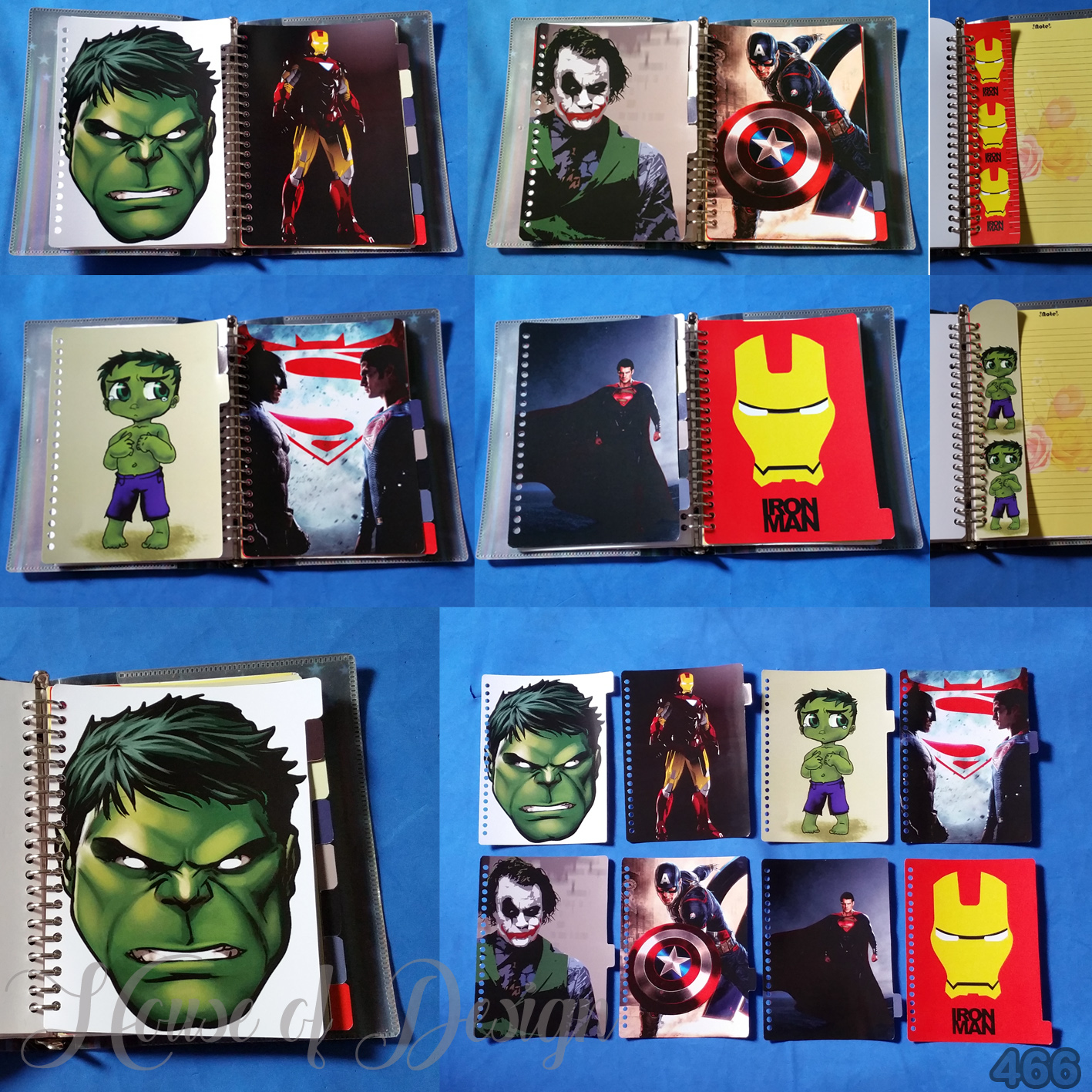 PEMBATAS SAMPING, PENGGARIS BINDER 20 RING UKURAN A5 SUPERHERO CUSTOM