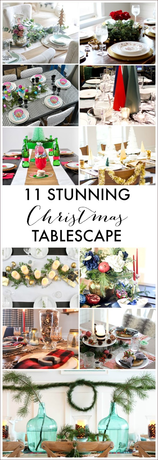 11 stunning Christmas tablescapes