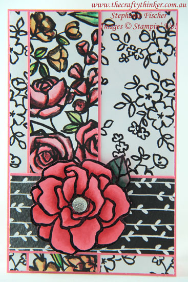 #thecraftythinker , #stampinup , #cardmaking , #rubberstamping , Petal Passion, Beautiful Day, watercolouring, Stampin' Up Australia Demonstrator, Stephanie Fischer, Sydney NSW