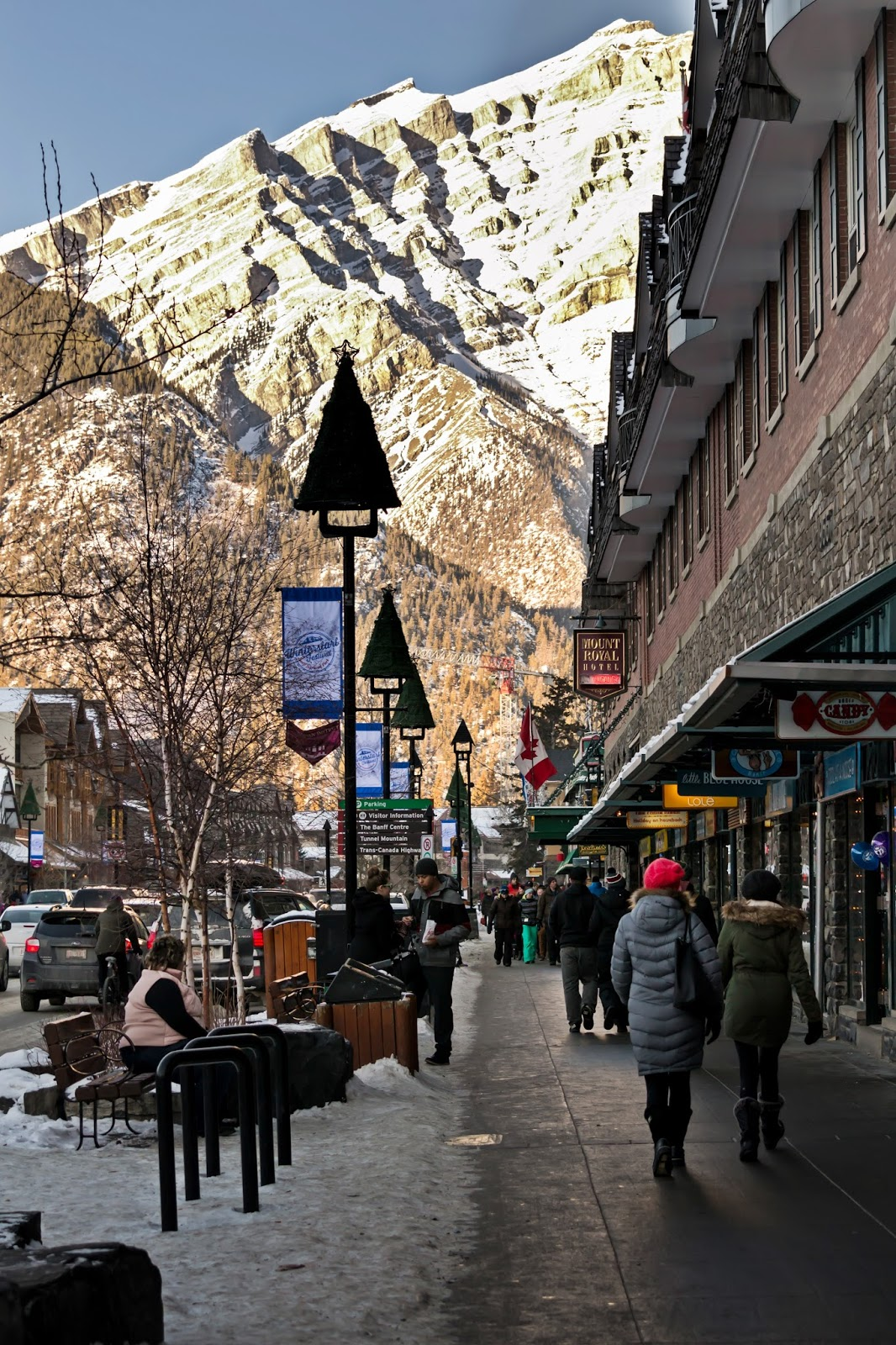 Banff Village in Winter, Canada