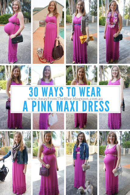 30 ways to wear a pink maxi dress: #30wears challenge | away from the blue blog