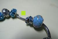 Band: A TE® Armband Charms Damen Kristall Blau Muranoglas Blume Glasperle Mädchen Geschenk Frauen #JW-B94