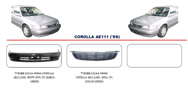Bemper Corolla AE111 1999