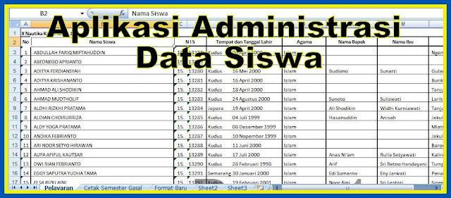 Aplikasi Administrasi Data Siswa Tahun 2018/2019