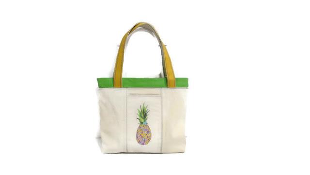 Ананас, тропические фрукты - летняя сумка 2017 - подарок на день рождения, сумка для отпуска