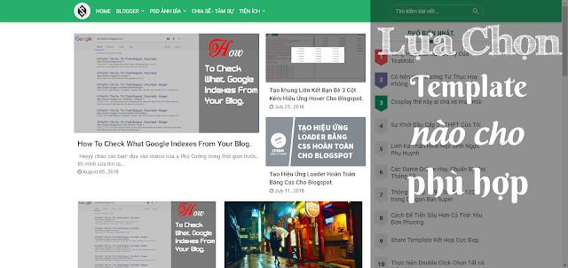 Hướng Dẫn Cách Lựa chọn Theme Phù Hợp Cho Blogspot