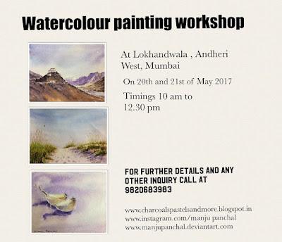Water colour painting workshop at Lokhandwala, Andheri west, Mumbai