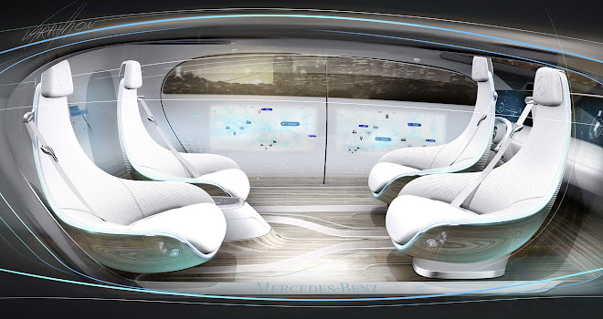 Mercedes concept autonomous interior