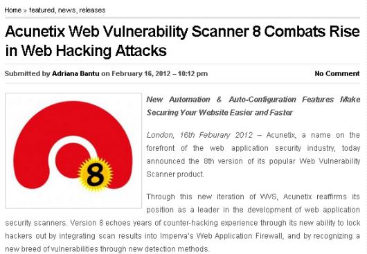 Tội phạm máy tính | [Tool] Acunetix Web Vulnerability Scanner 8