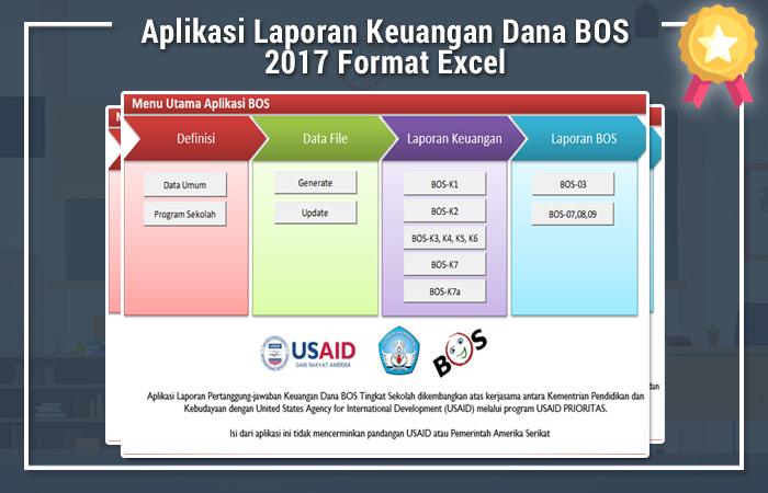 Aplikasi Laporan Keuangan Dana BOS 2017 Format Excel