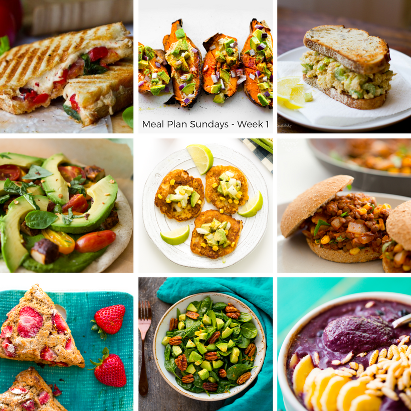 Vegan meal plan sundays week 1 i have been getting a few requests for vegan meal plans over the past year so i am trying something new this week and if you guys like it sciox Choice Image