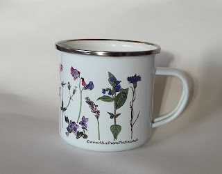 Flowers Enamel mug by Alice Draws The Line