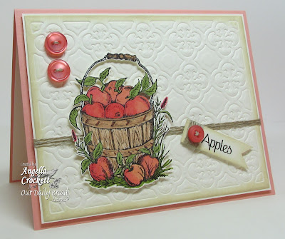 "ODBD ""Apples"" and ""Quatrefoil Pattern"" Die, Card Designer Angie Crockett"