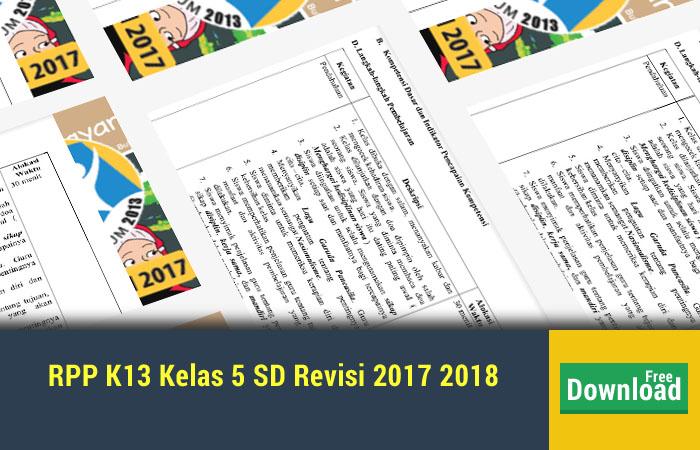 RPP K13 Kelas 5 SD Revisi 2017 2018