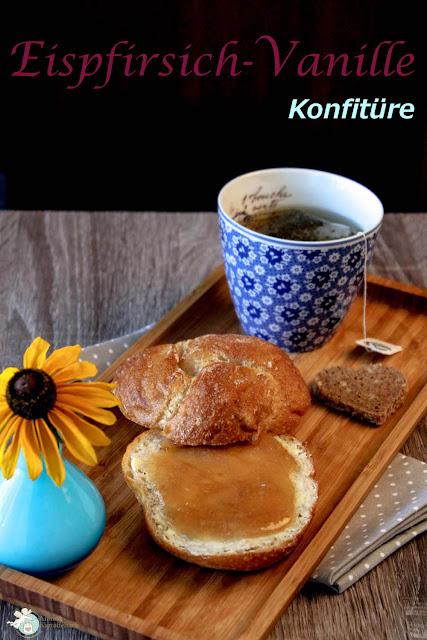 Marmelade mit Pfirsich und Vanille