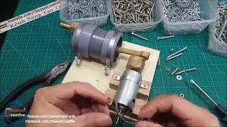 membuat sendiri pompa angin elektrik dari PVC