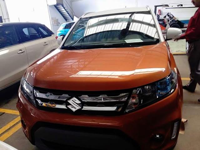 Suzuki Vitara suv spied front