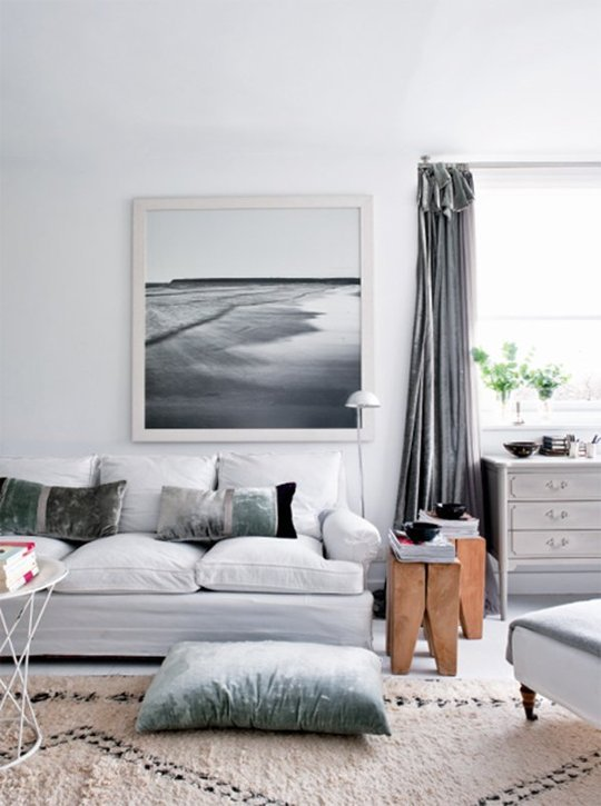 Grey Couch Living Room Design: Maryan Interior Design