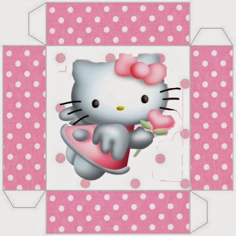 Hello Kitty Angel: Cajas para Imprimir Gratis.