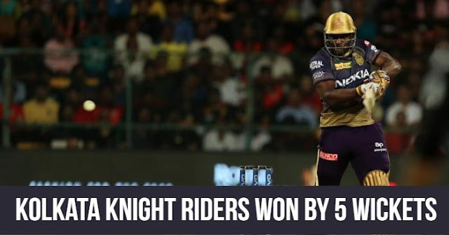Kolkata Knight Riders won by 5 Wickets