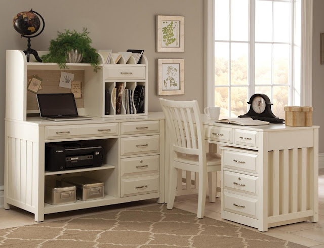 best buy white country office furniture sets for sale online