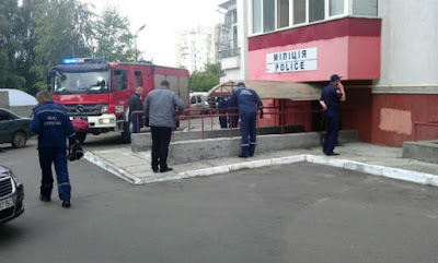 As a result of terrorist attacks in Lviv two policemen seriously injured