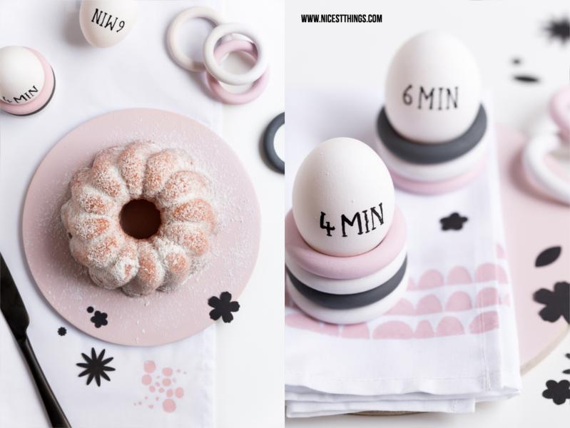Oster Kuchen und DIY Eierbecher aus Holzringen selber machen