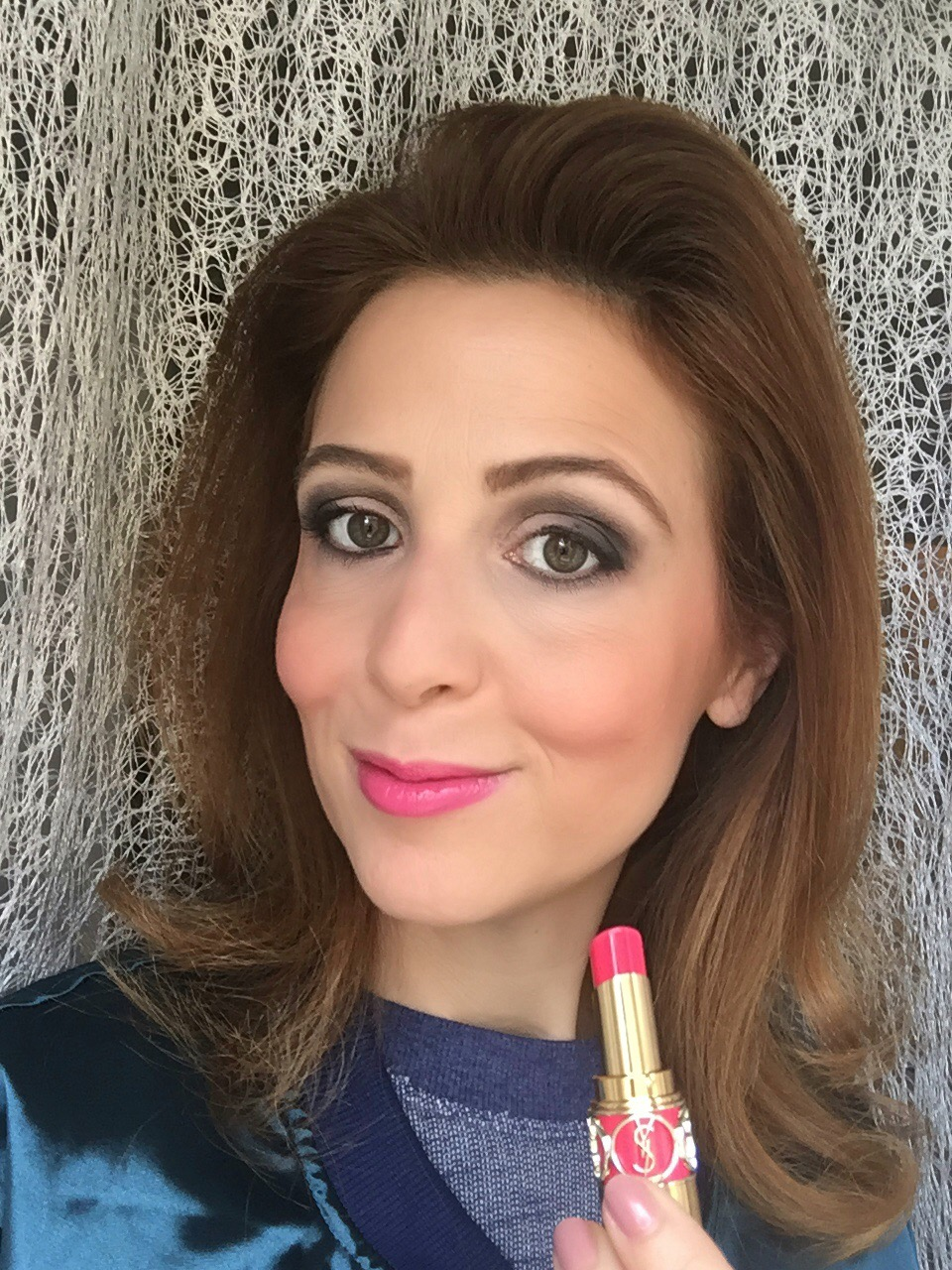 YSL Rouge Volupté Shine lipstick selfie rose saint germain on Fashion and Cookies beauty blog, beauty blogger